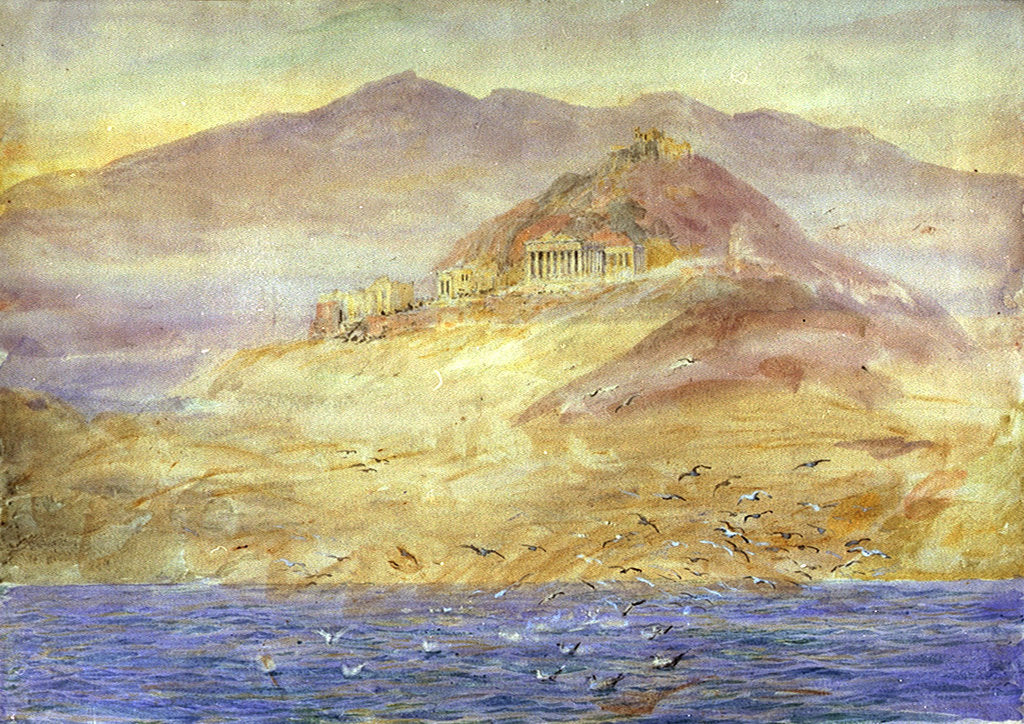 Detail of Athens from the Gulf of Aegina by William Lionel Wyllie