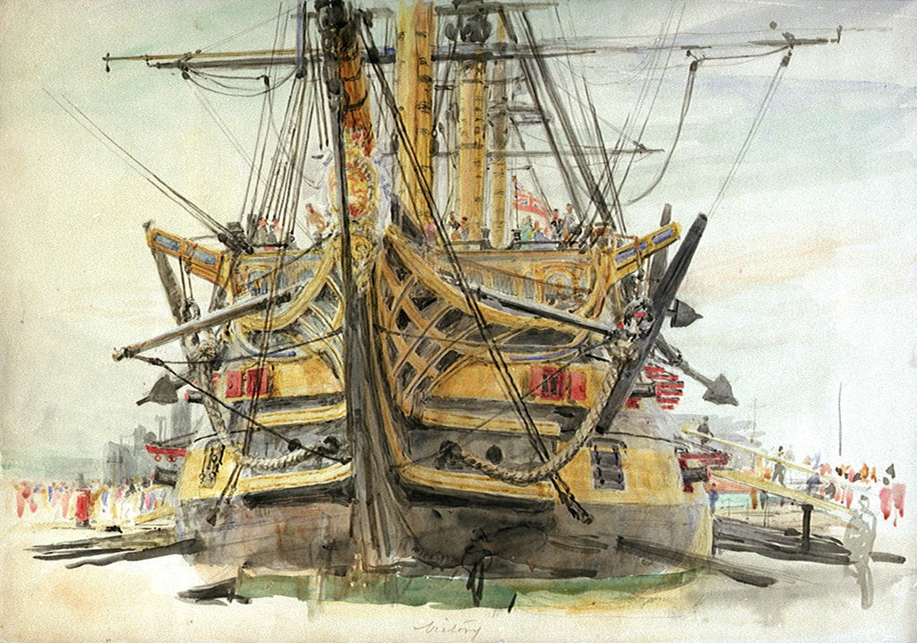 Detail of HMS Victory by William Lionel Wyllie