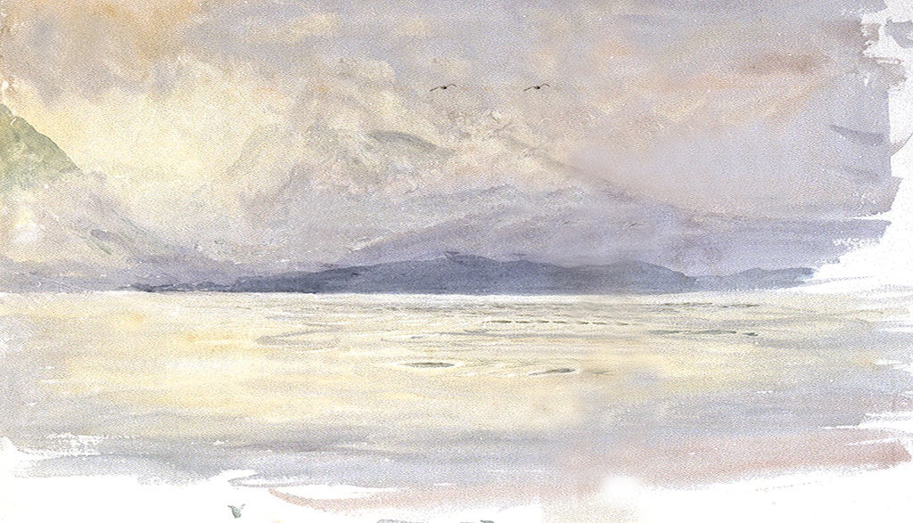 Detail of The Island of Arran, Scotland by William Lionel Wyllie