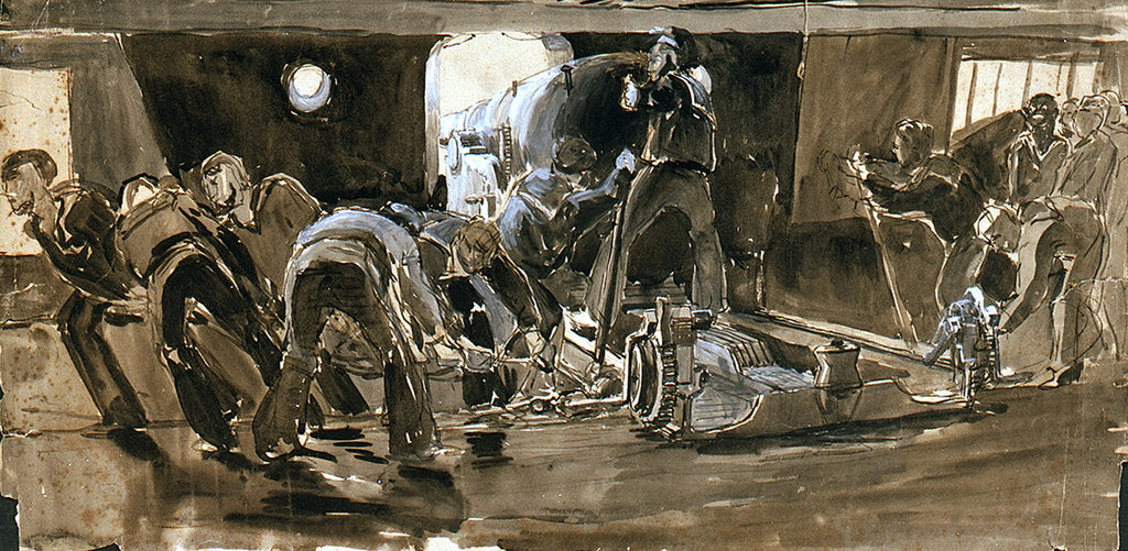 Detail of Guns Crew at Work by William Lionel Wyllie