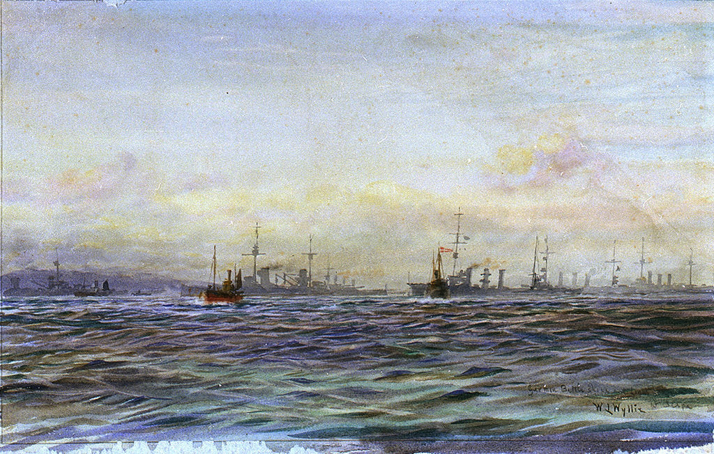 Detail of German Battleships and Cruisers, Scapa by William Lionel Wyllie