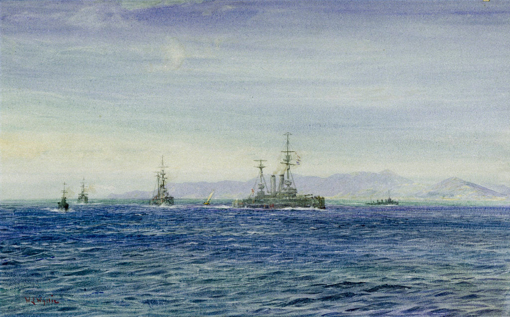Detail of HMS 'Albemarle' in the Moray Firth by William Lionel Wyllie