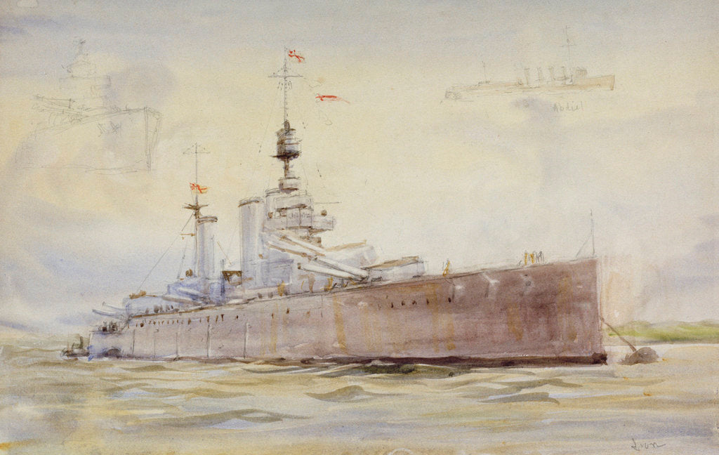 Detail of HMS 'Lion' by William Lionel Wyllie