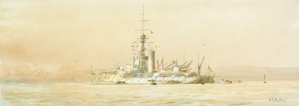 Detail of HMS 'Orion' by William Lionel Wyllie