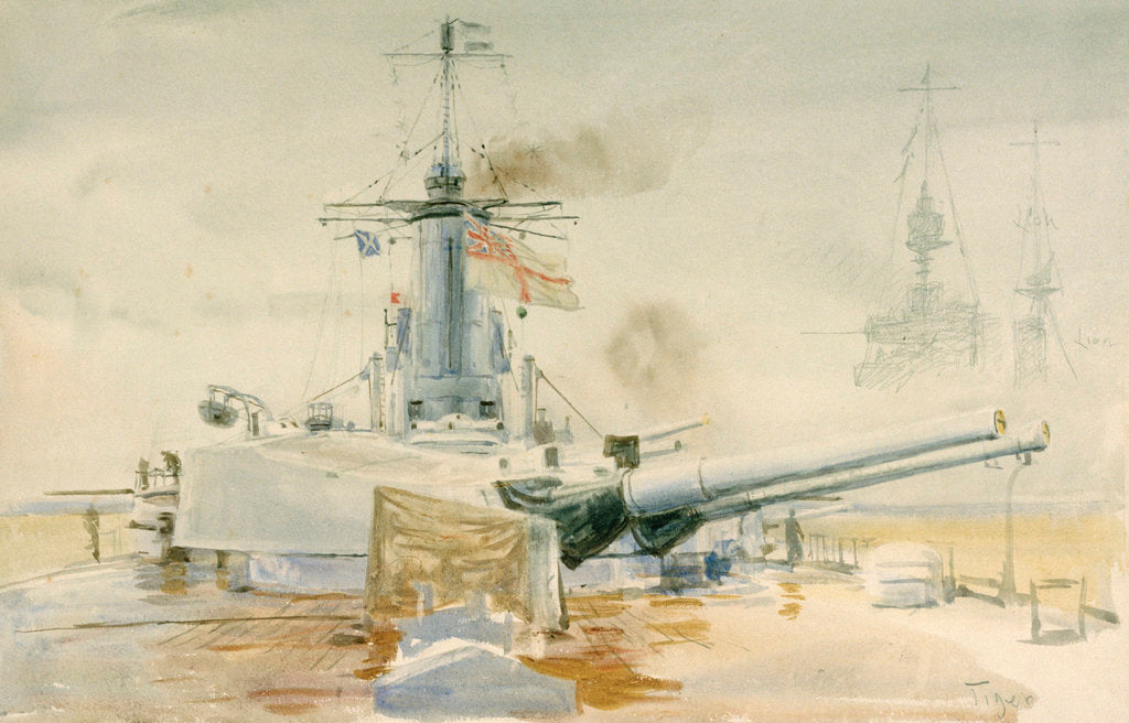 Detail of HMS 'Tiger' by William Lionel Wyllie