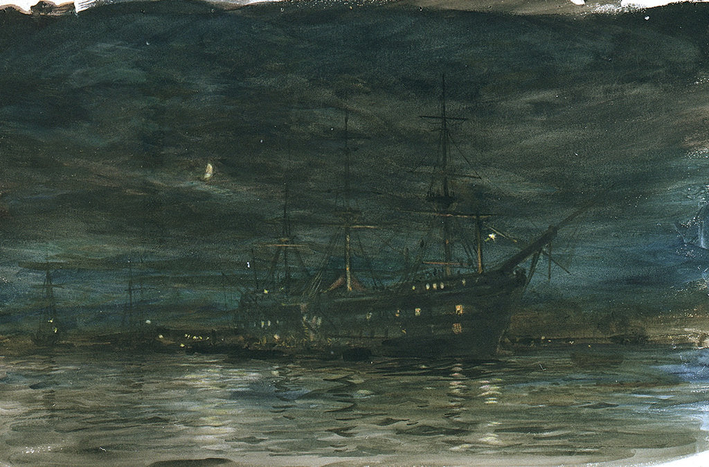 Detail of HMS Exmouth by William Lionel Wyllie
