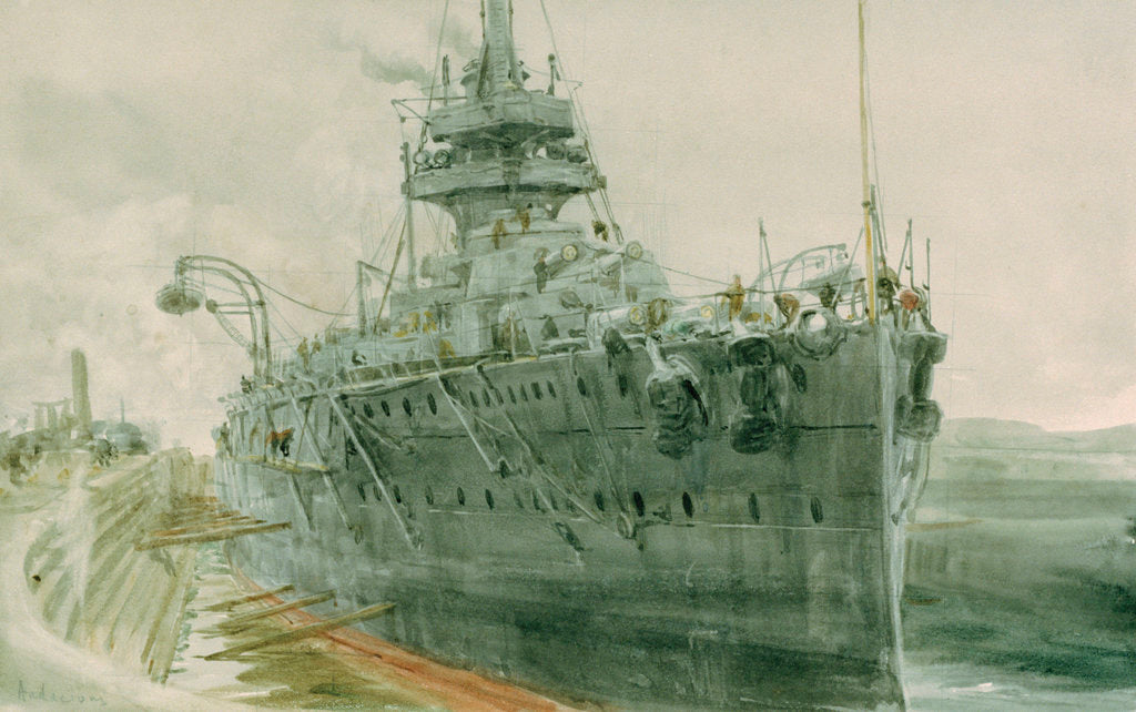 HMS 'Audacious' by William Lionel Wyllie