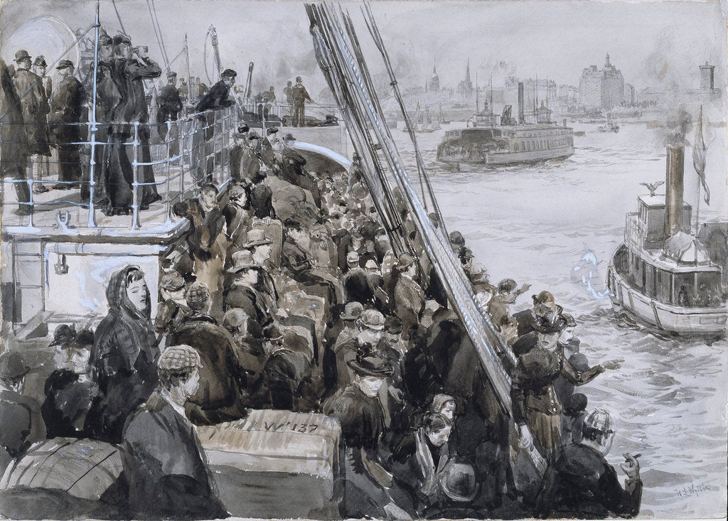 Emigrants, New York by William Lionel Wyllie