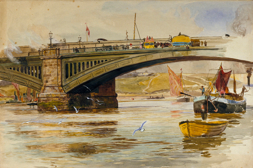 Detail of Rochester Bridge by William Lionel Wyllie