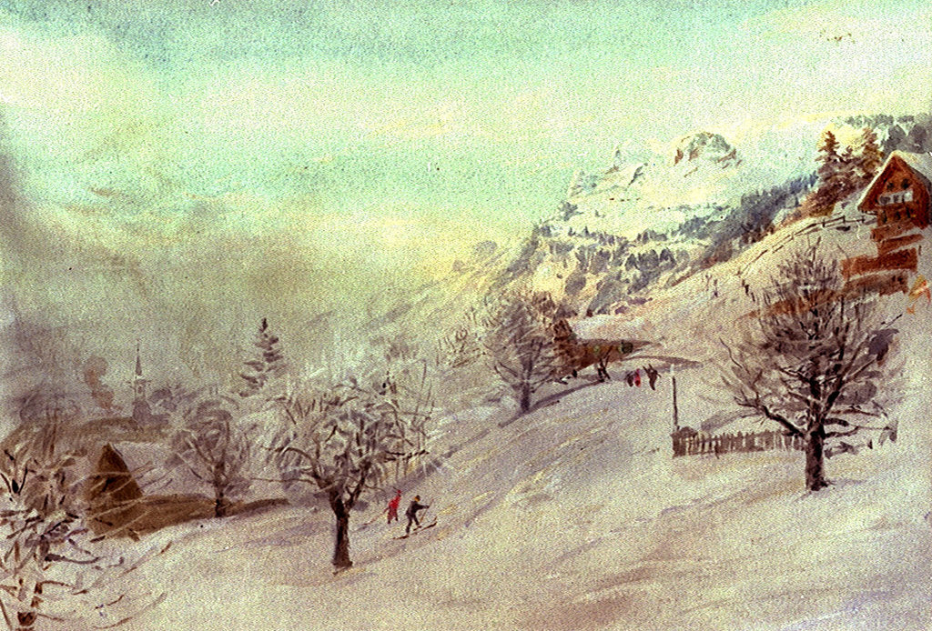 Detail of Grindelwald by William Lionel Wyllie