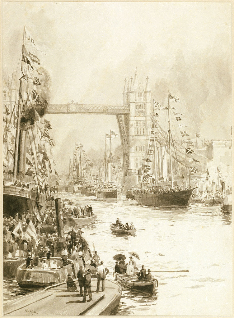 Detail of Opening of Tower Bridge by William Lionel Wyllie