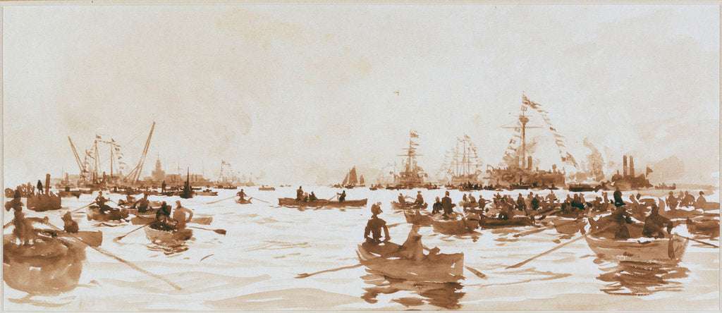 Detail of A Launch at Portsmouth by William Lionel Wyllie