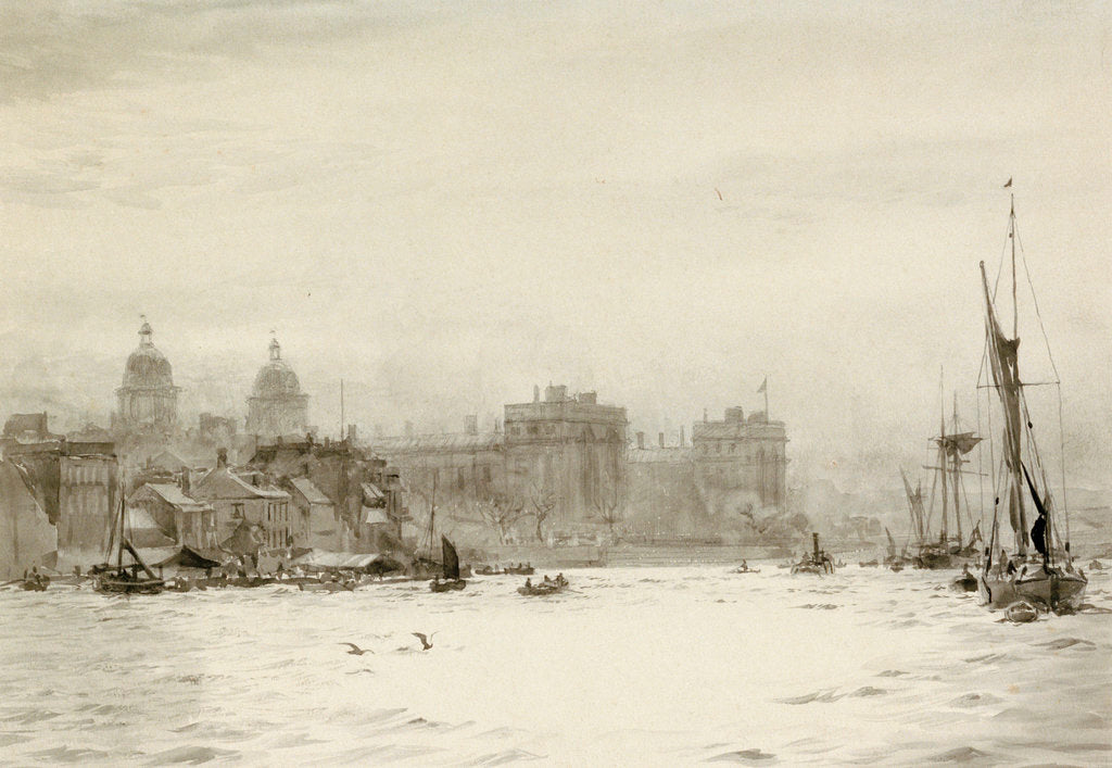 Detail of Shipping in Greenwich Reach by William Lionel Wyllie