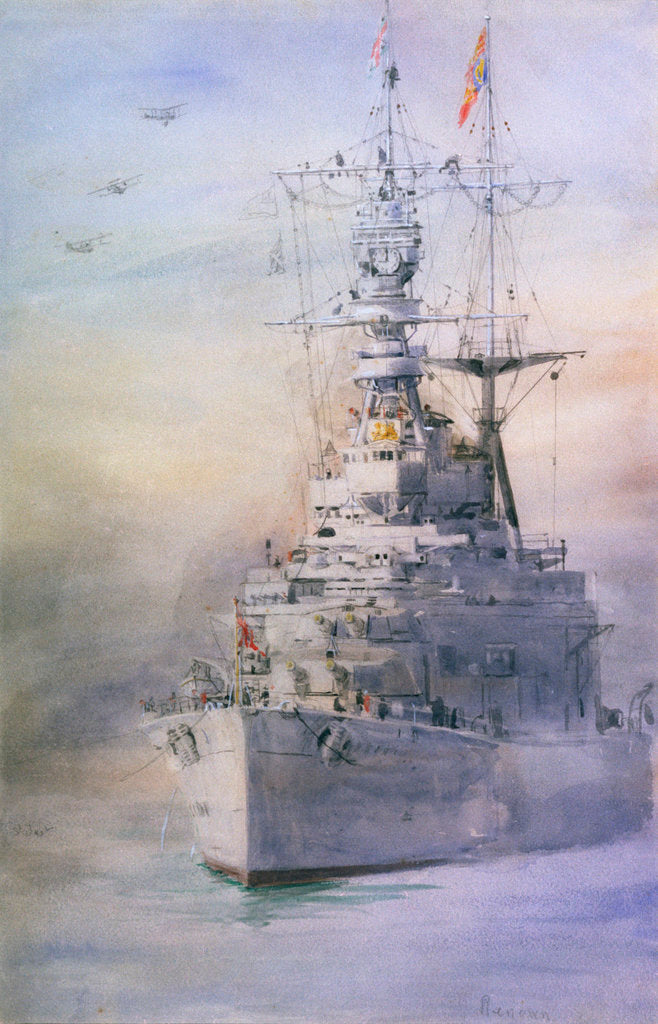 Detail of HMS 'Renown' by William Lionel Wyllie