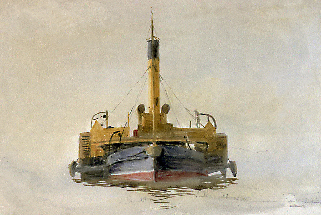 Detail of Study of a Portsmouth Harbour Tug by William Lionel Wyllie