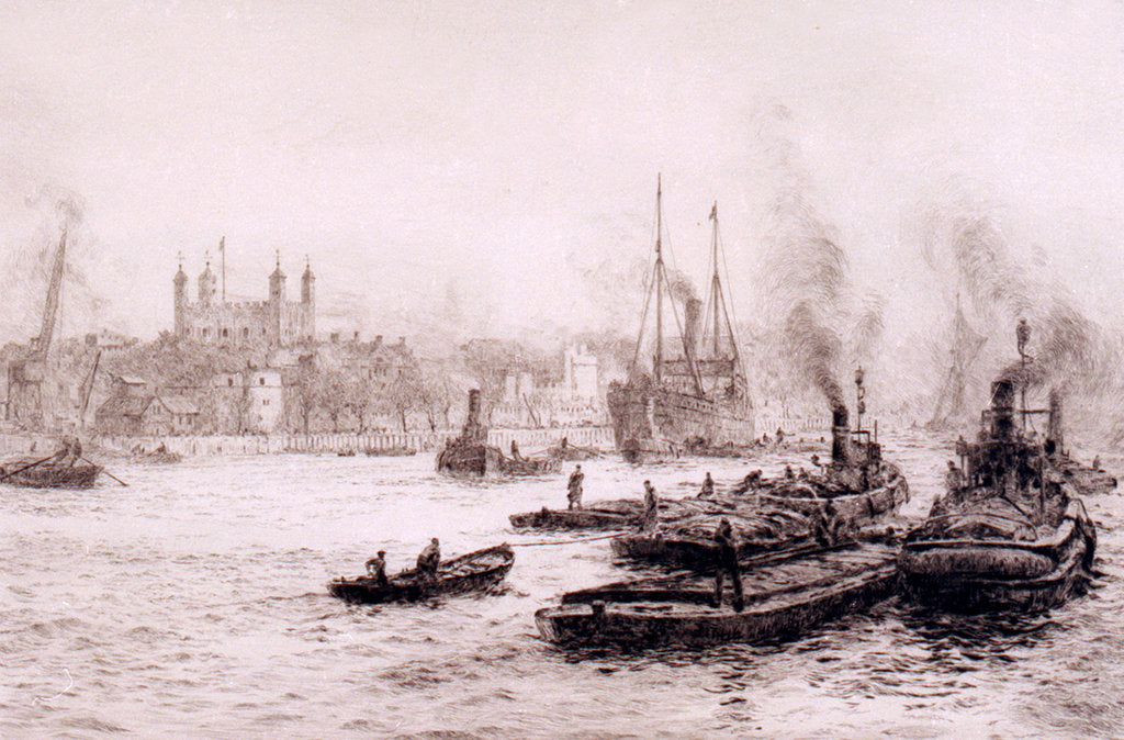 Detail of The Tower from Hays Wharf by William Lionel Wyllie