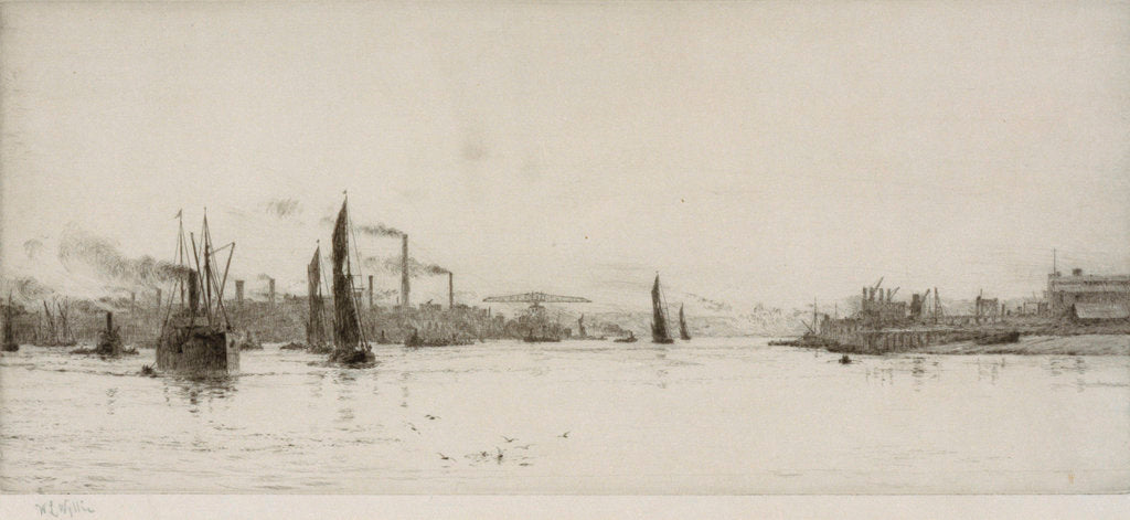 Detail of Woolwich Reach by William Lionel Wyllie