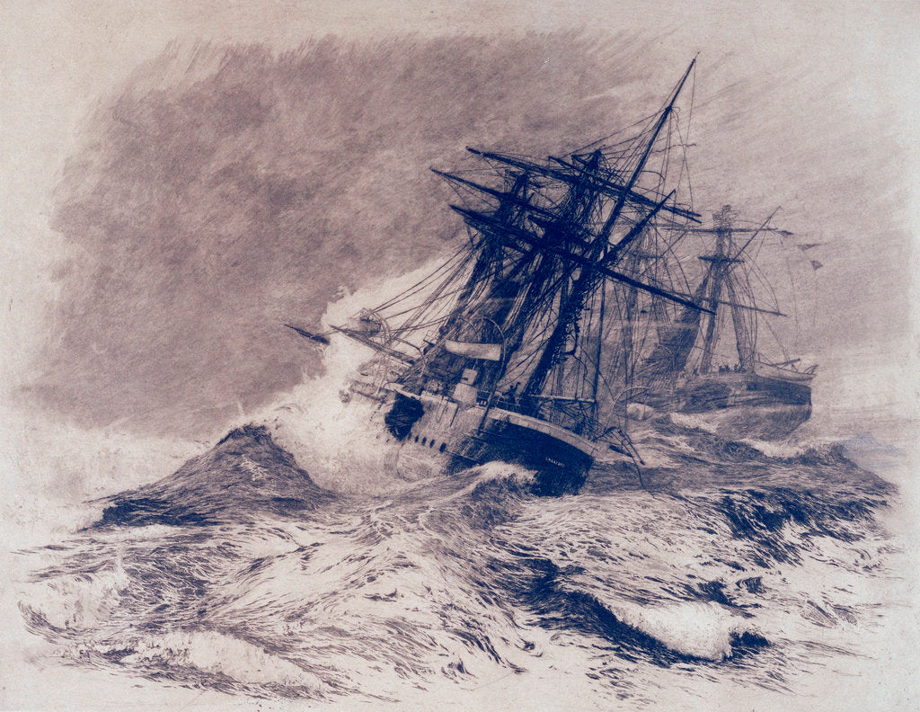 Detail of The escape of HMS 'Calliope' by William Lionel Wyllie