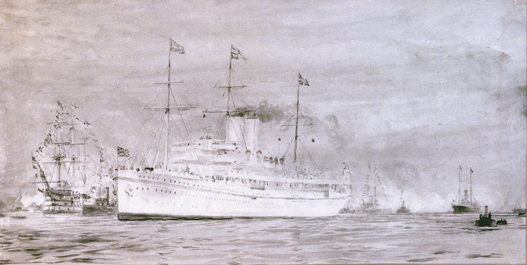 Detail of HMS  'Medina' by William Lionel Wyllie