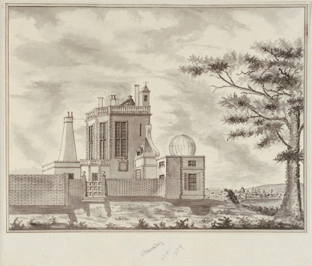 Detail of View of the Royal Observatory, Greenwich by John Charnock