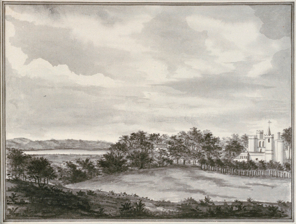 Detail of View of Vanbrugh Castle, Greenwich by John Charnock