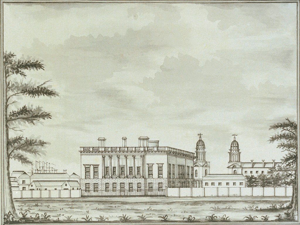 Detail of View of the Queen's House, Greenwich, from Greenwich Park by John Charnock