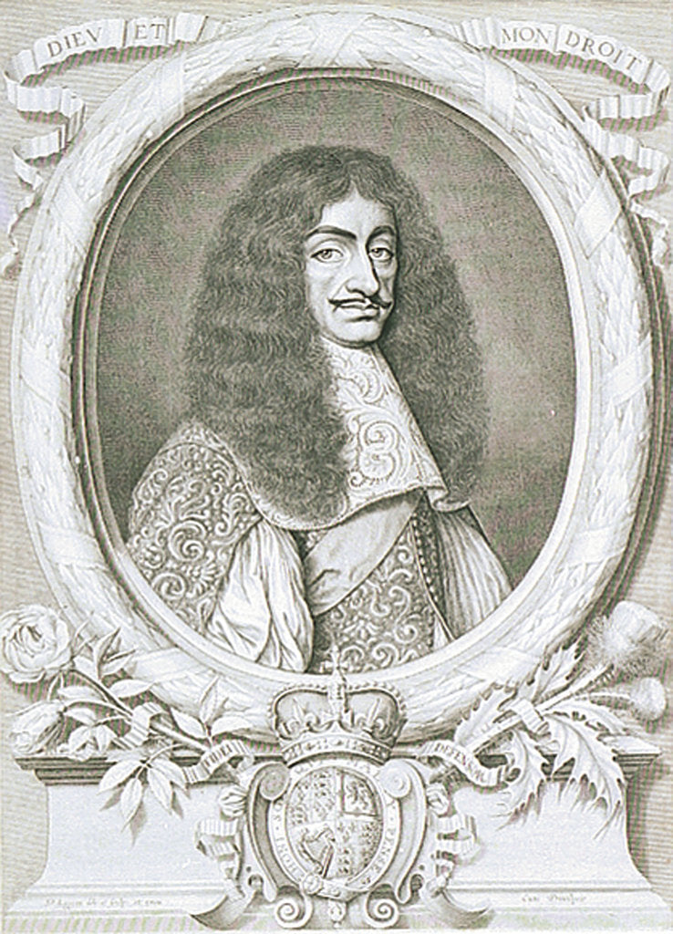 Detail of Charles II (1630-1685) by David Loggan