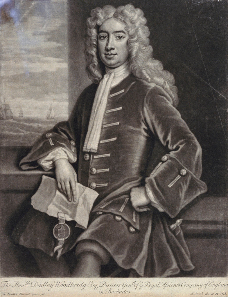 Detail of Dudley Woodbridge by Godfrey Kneller