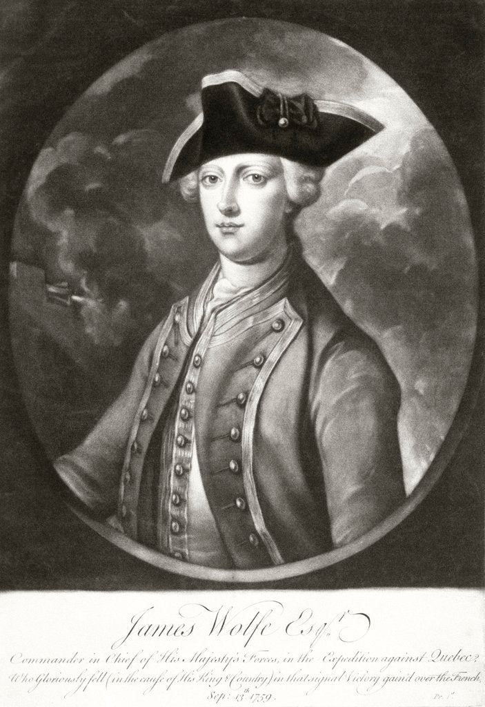 Detail of Commander James Wolfe by unknown
