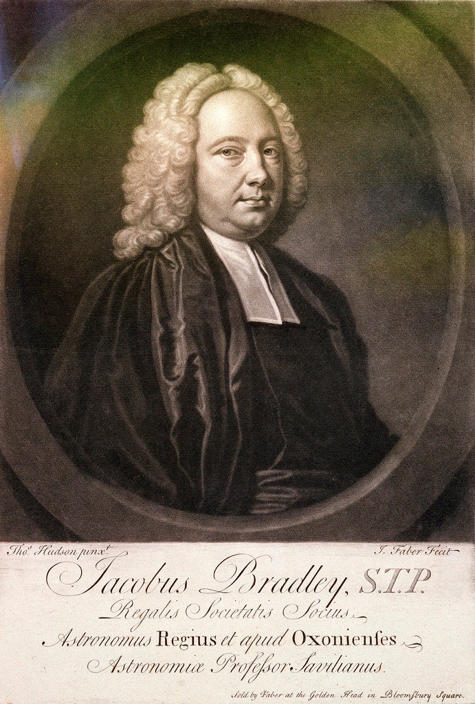 Detail of James Bradley, Astronomer Royal (circa 1692-1762) by Thomas Hudson