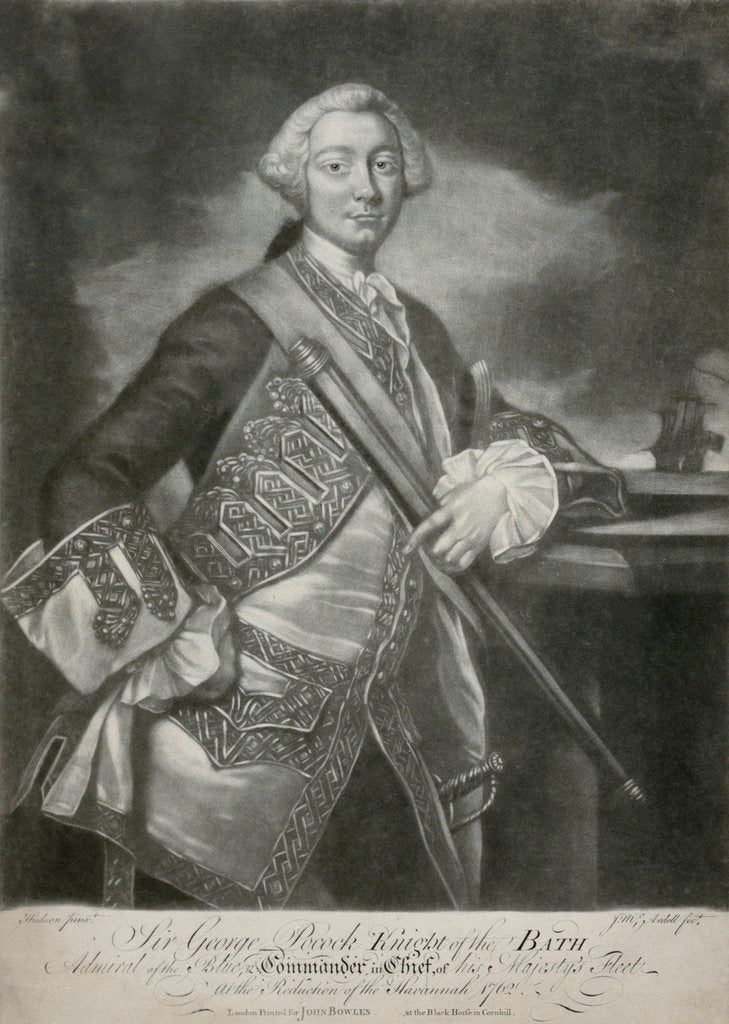 Detail of Sir George Pockock by Thomas Hudson