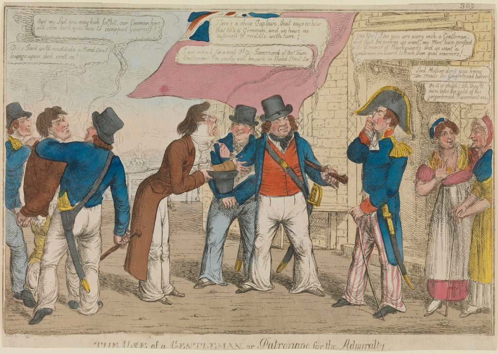Detail of 'The use of a gentleman or patronage for the Admiralty' (caricature) by Thomas Tegg