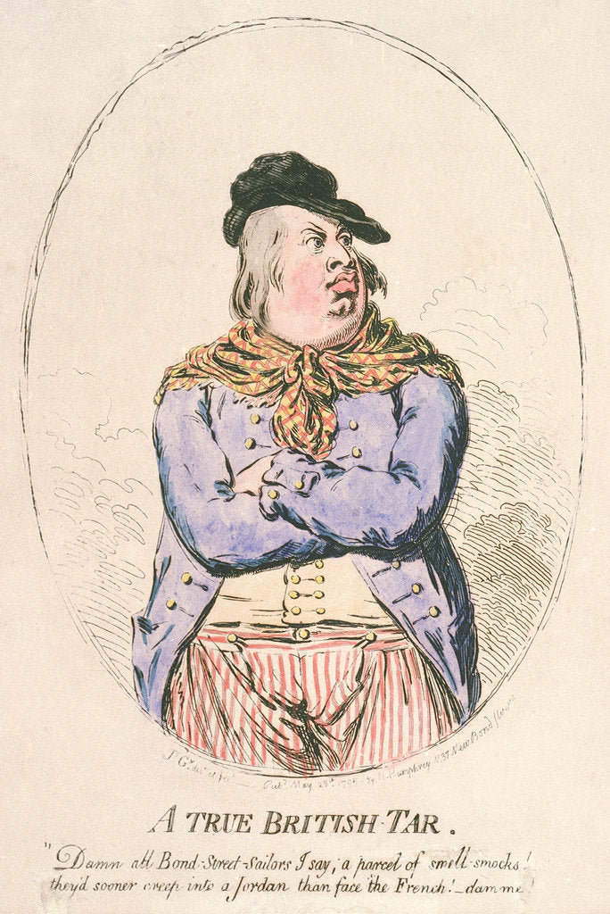 Detail of A true British tar by James Gillray