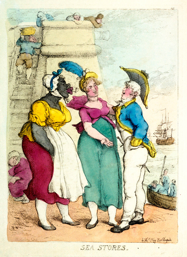 Detail of Sea Stores by Thomas Rowlandson