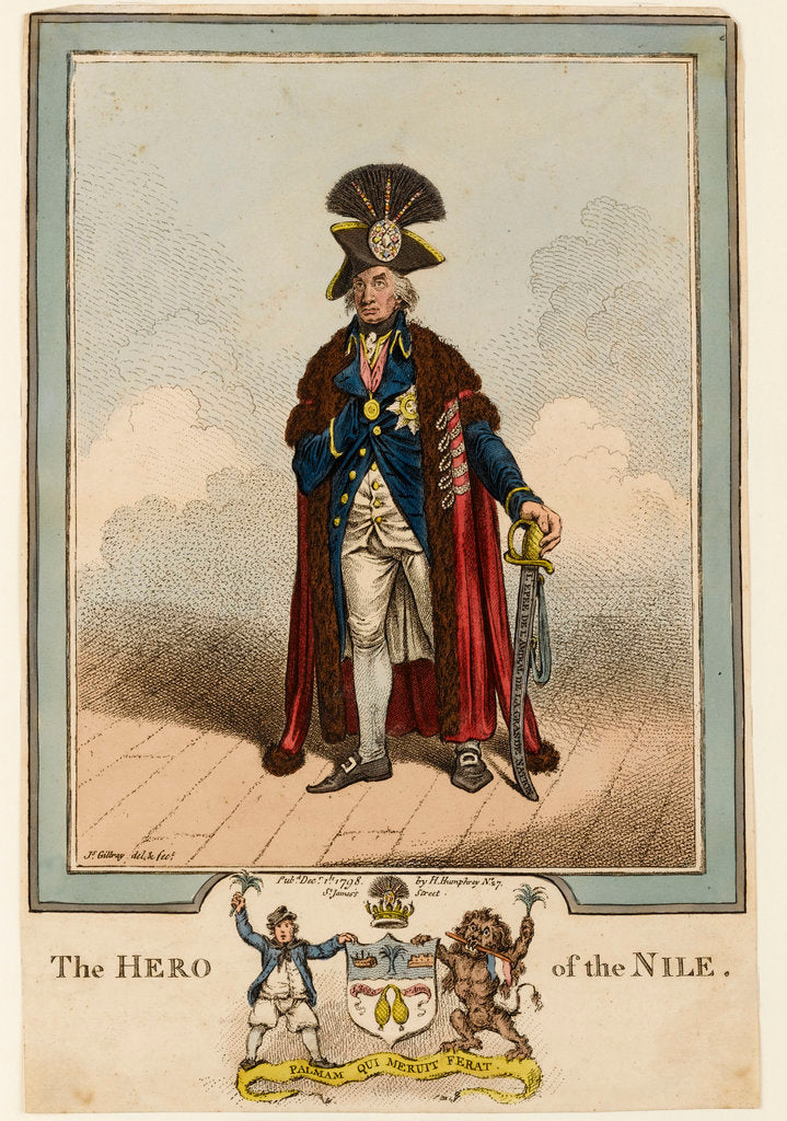 Detail of The Hero of the Nile by James Gillray