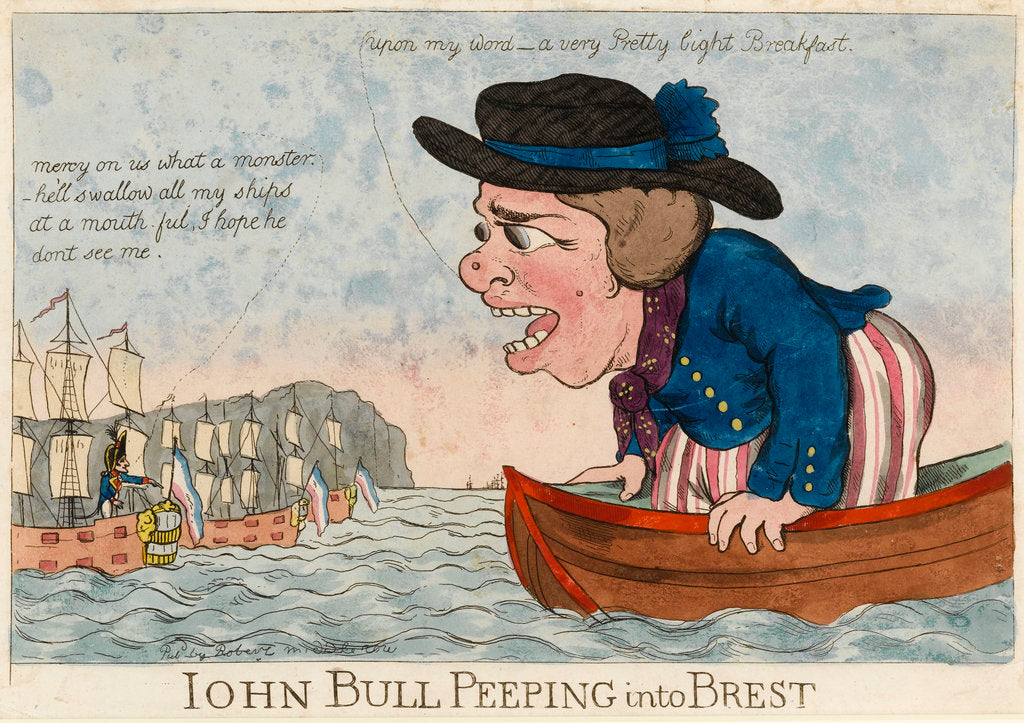 Detail of John Bull Peeping into Brest by George Woodward