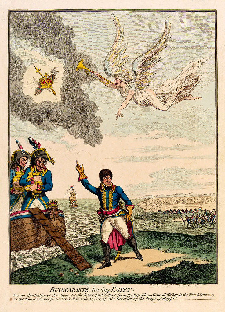 Detail of Buonaparte leaving Egypt by James Gillray