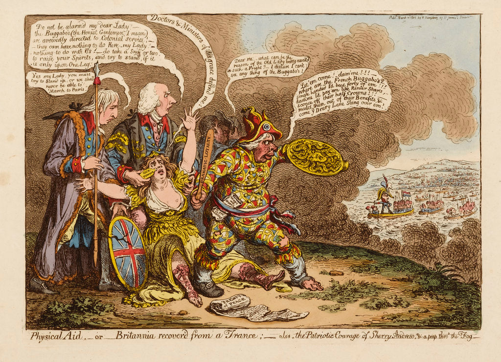 Detail of Physical Aid... by James Gillray