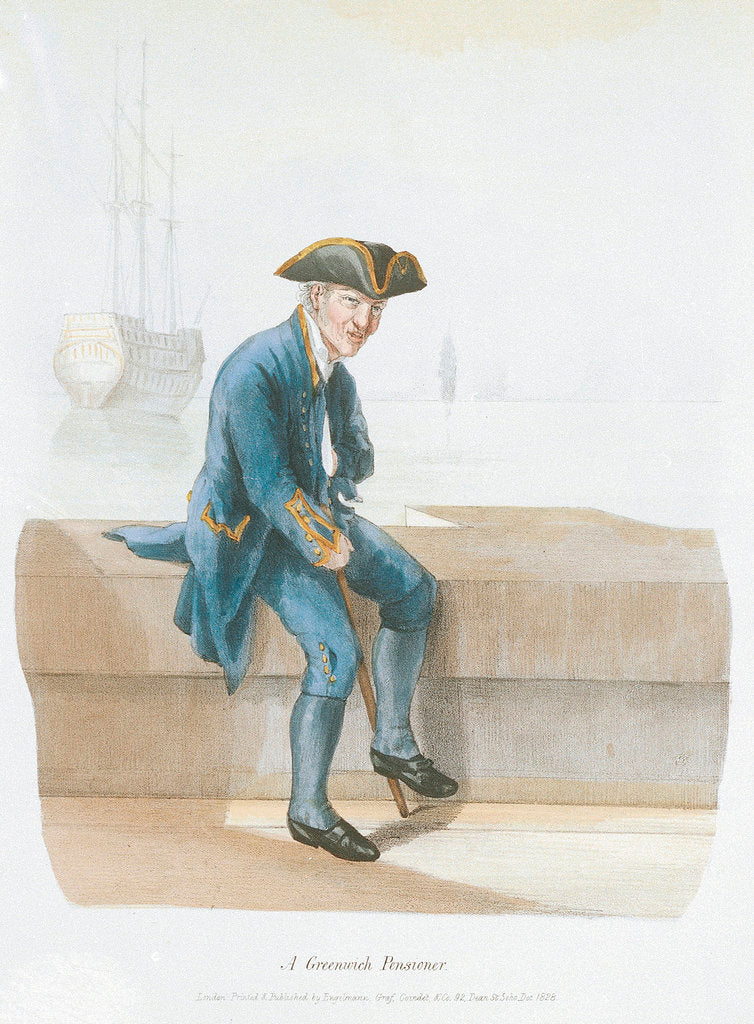 Detail of A Greenwich Pensioner (uniform) by Engelmann