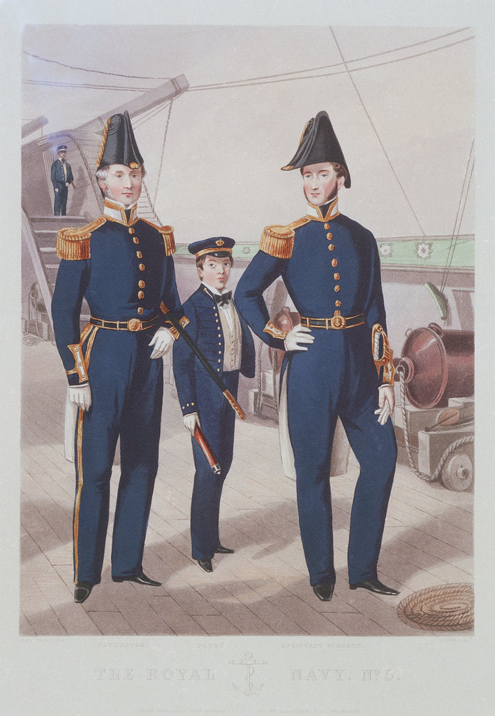 Detail of The Royal Navy. No 5. Paymaster. Cadet. Assistant Surgeon by R.H.C. Ubsdell