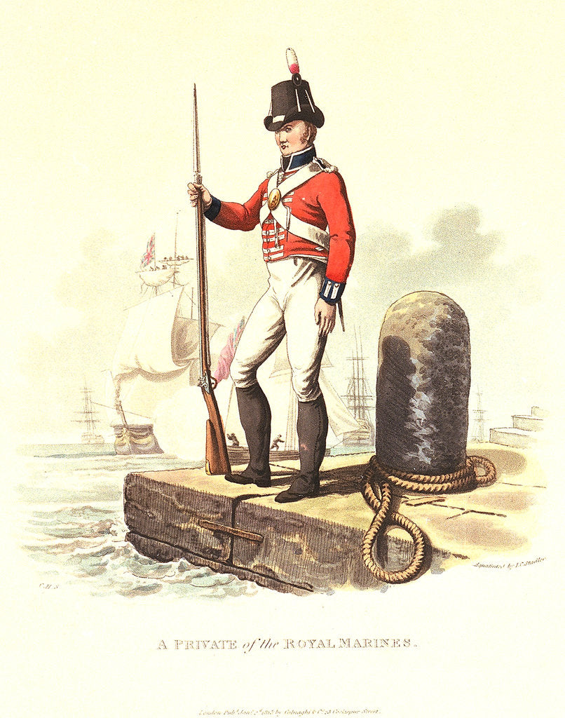 Detail of A private of the Royal Marines by C.H.S.