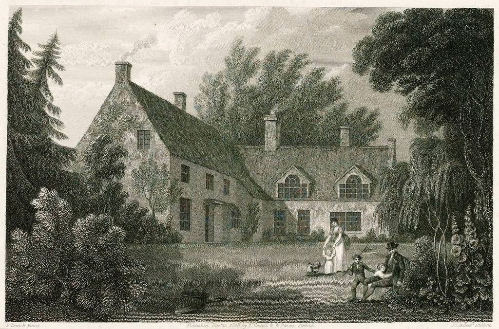 Detail of The Parsonage House of Burham Thorpe by Isaac Pocock