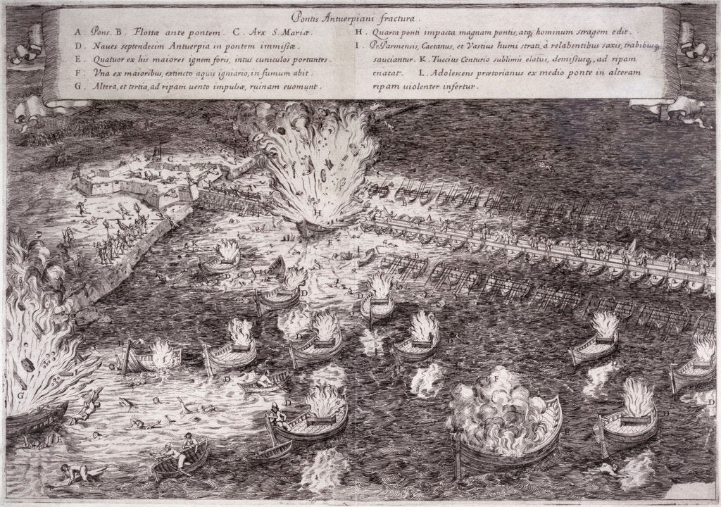 Detail of The Hellburners of Antwerp, 1585 by unknown