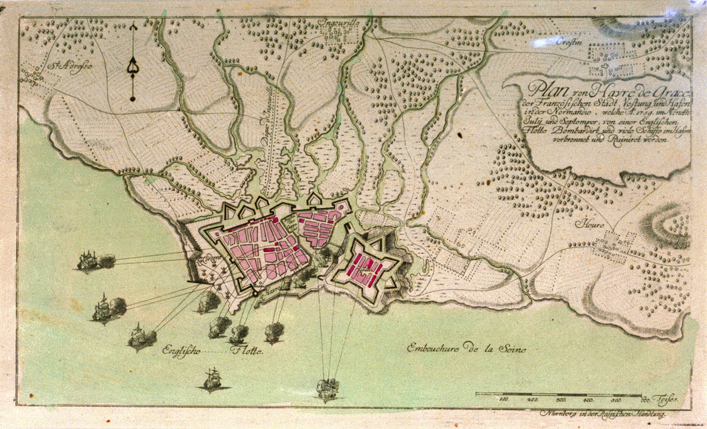 Detail of Plan of Le Havre, France by unknown