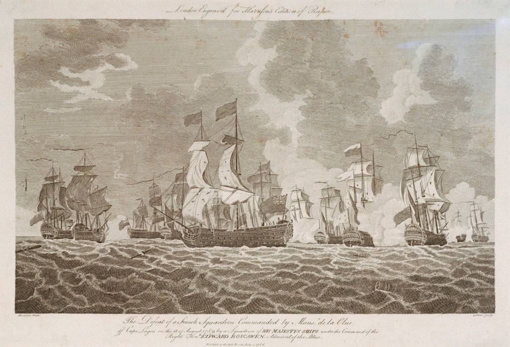Detail of Defeat of a French squadron off Cape Lagos, 18 August 1759 by Goldar