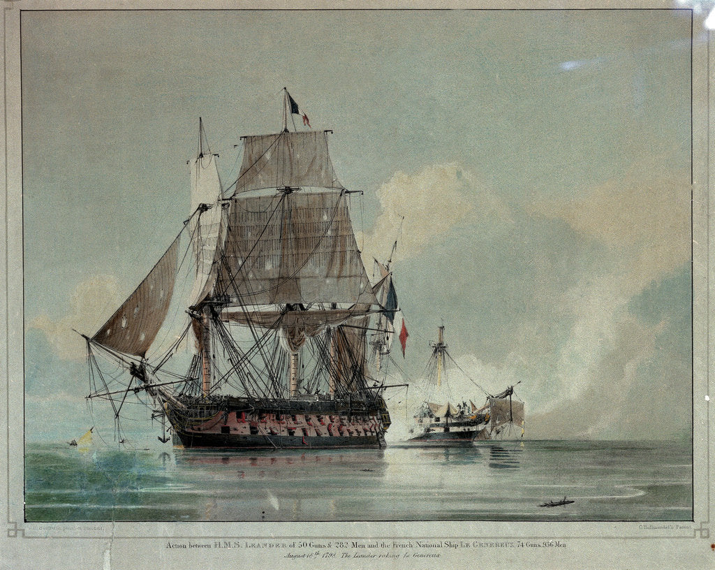 Action between HMS 'Leander' oand the French 'Le Genereux' 18 August 1798 by C.H. Seaforth