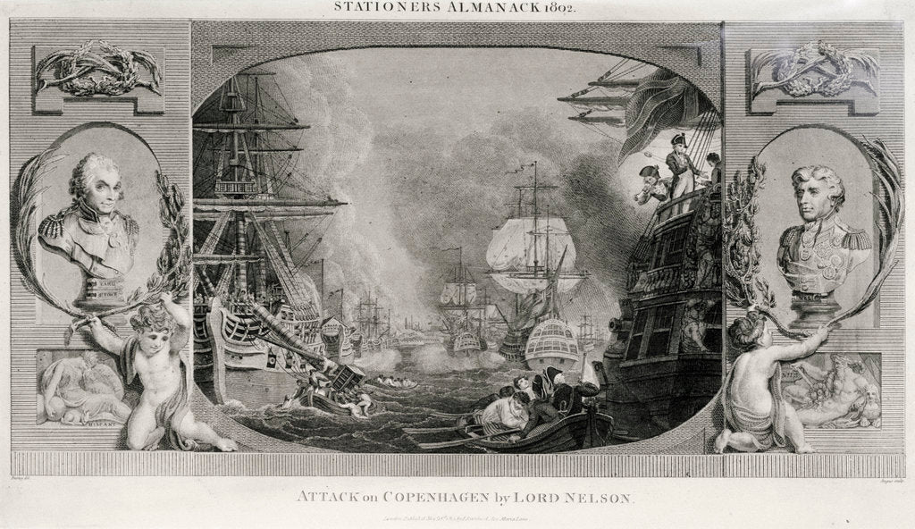 Detail of Attack on Copenhagen by Lord Nelson by Burney