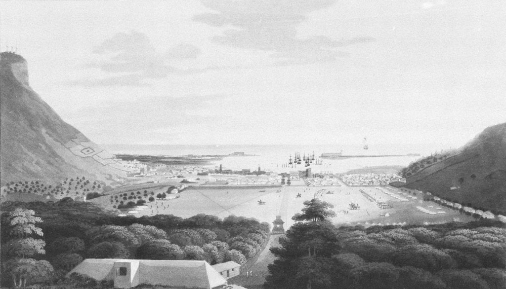 Detail of Isle of France No. 4. Port Louis, from the Champ de Mars by R. Temple