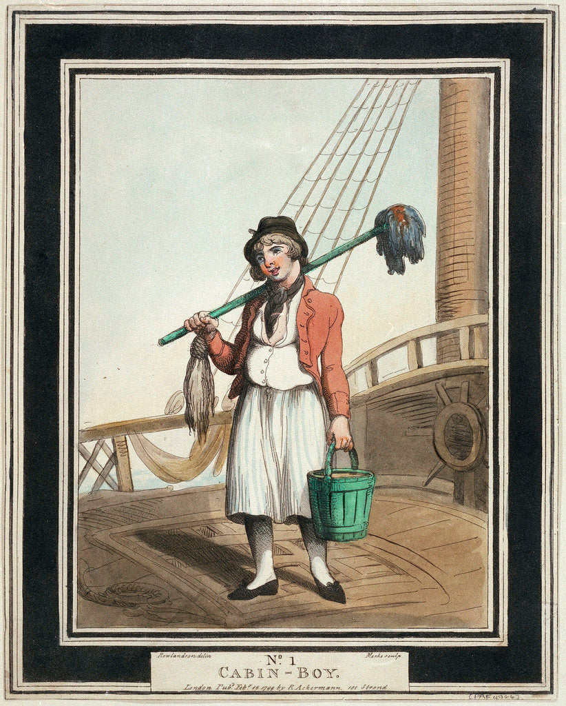 Detail of Cabin boy: no.1 in series by Thomas Rowlandson