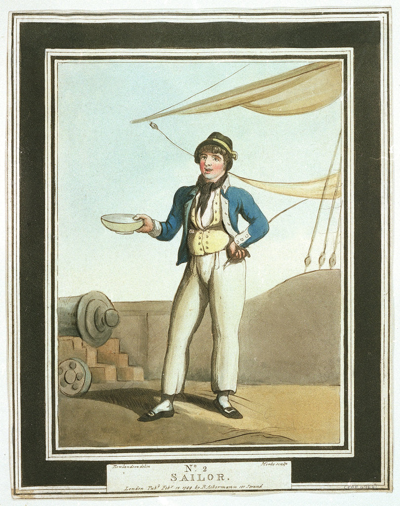Detail of Sailor: no. 2 in series by Thomas Rowlandson
